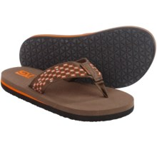 Teva Mush® II Flip-Flops (For Little Kids) in Dark Earth/Orange - Closeouts