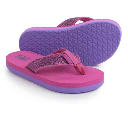 Teva Mush II Flip-Flops (For Little Kids) in Fuchsia Sparkle - Closeouts
