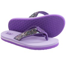 Teva Mush® II Flip-Flops (For Little Kids) in Purple Glitter - Closeouts
