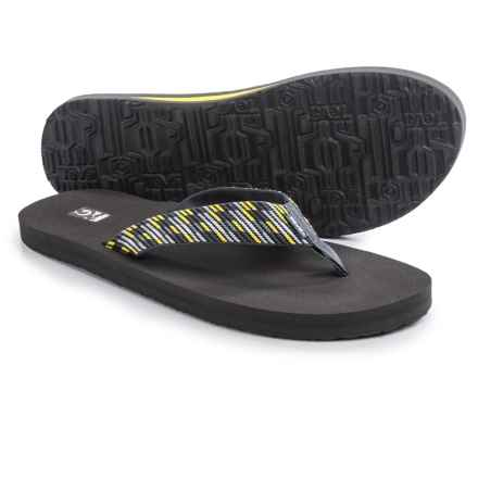 Teva Mush II Flip-Flops (For Men) in Nitro Grey/Yellow - Closeouts