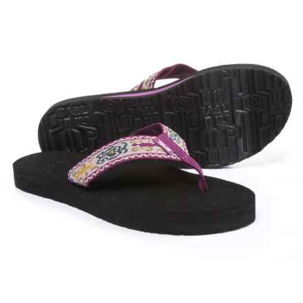 Teva Mush II Flip-Flops (For Women) in Amalia Dark Purple - Closeouts