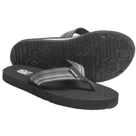 Teva Mush II Flip-Flops (For Women) in Antiguous Black Grey - Closeouts