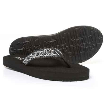 Teva Mush II Flip-Flops (For Women) in Companera Black - Closeouts