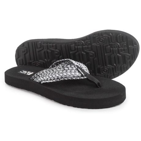 Teva Mush II Flip-Flops (For Women) in Tiki Black/White