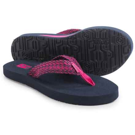 Teva Mush II Flip-Flops (For Women) in Tiki Navy/Raspberry - Closeouts