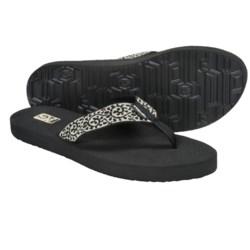 Teva Mush II Flip-Flops (For Women) in Vineyard Skip Black/Cream