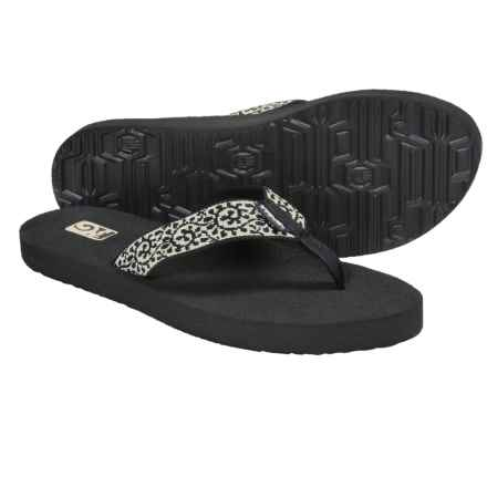 Teva Mush II Flip-Flops (For Women) in Vineyard Skip Black/Cream - Closeouts