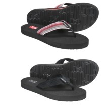 Teva Mush® II Thong Sandals - 2-Pack, Flip-Flops (For Women) in Tread Black/ Antiquous Poppy - Closeouts