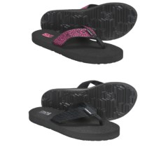 Teva Mush® II Thong Sandals - 2-Pack, Flip-Flops (For Women) in Tread Black/ Vineyard Skip Pink - Closeouts