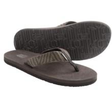 Teva Mush II Thong Sandals - Flip-Flops (For Men) in Modibo Chocolate Brown - Closeouts