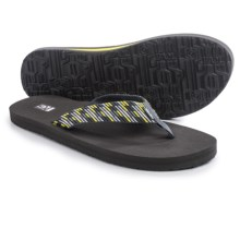 Teva Mush II Thong Sandals - Flip-Flops (For Men) in Nitro Grey/Yellow - Closeouts