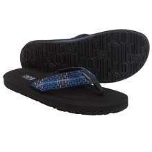 Teva Mush II Thong Sandals - Flip-Flops (For Men) in Tartan Blue - Closeouts