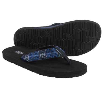 Teva Mush II Thong Sandals - Flip-Flops (For Men) in Tartan Blue - Closeouts