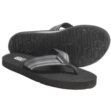 Teva Mush II Thong Sandals - Flip-Flops (For Women) in Antiguous Black Grey - Closeouts