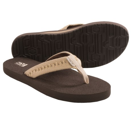 Teva Mush II Thong Sandals - Flip-Flops (For Women) in Chinchurro Natural
