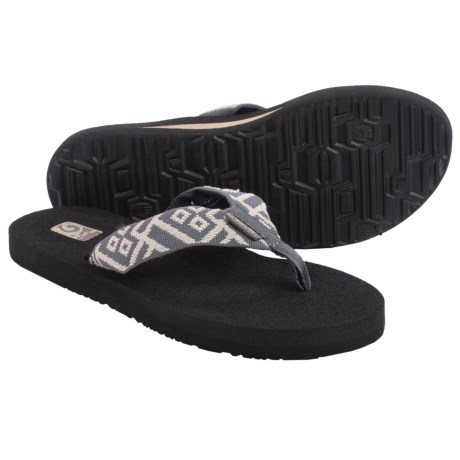 Teva Mush II Thong Sandals - Flip-Flops (For Women) in Crisscross Grey
