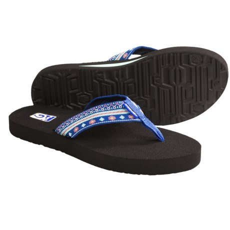 Teva Mush II Thong Sandals - Flip-Flops (For Women) in Tread Black