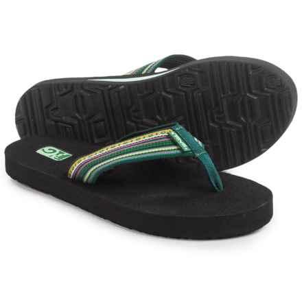 Teva Mush II Thong Sandals - Flip-Flops (For Women) in La Manta Green - Closeouts