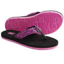 Teva Mush II Thong Sandals - Flip-Flops (For Women) in Liquid Stripes Neon Pink - Closeouts