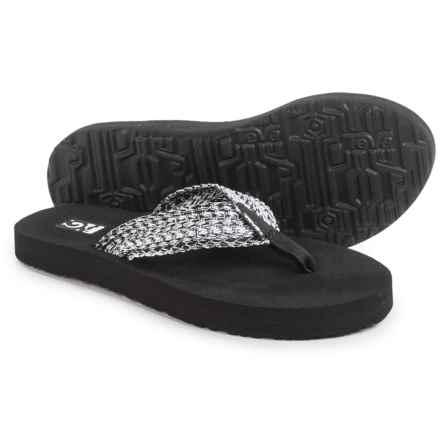 Teva Mush II Thong Sandals - Flip-Flops (For Women) in Tiki Black/White - Closeouts