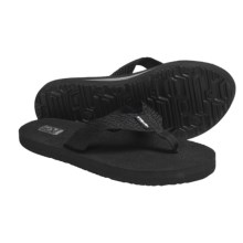 Teva Mush II Thong Sandals - Flip-Flops (For Women) in Tread Black - Closeouts
