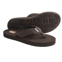 Teva Mush II Thong Sandals - Flip-Flops (For Women) in Tread Brown - Closeouts