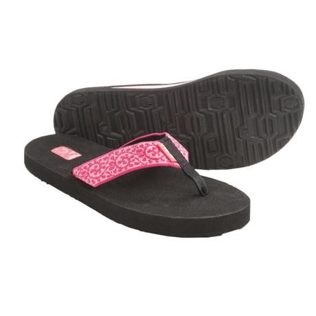 Teva Mush II Thong Sandals - Flip-Flops (For Women) in Vineyard Skip Pink