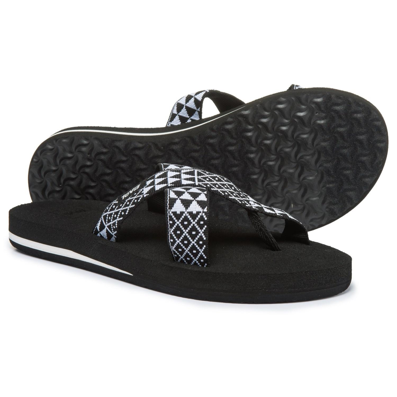 Teva Mush® Kalea Sandals (For Women) in Pasa Black White ... 3e104864f