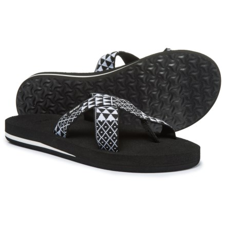 ab23f1dd9e232 Teva Mush® Kalea Sandals (For Women) in Pasa Black White - Closeouts