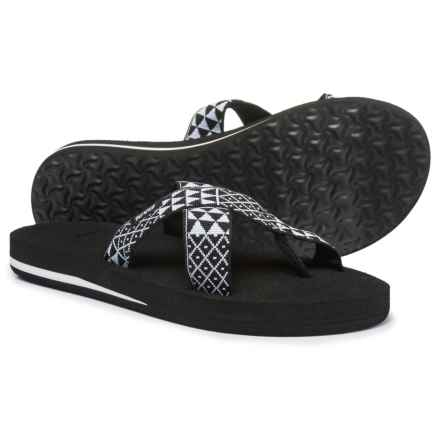 Teva Mush® Kalea Sandals (For Women) in Pasa Black White - Closeouts
