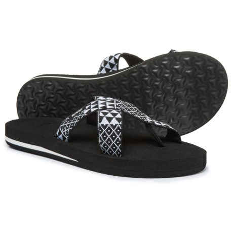 Teva Mush® Kalea Sandals (For Women) in Pasa Black White