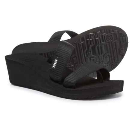 Teva Mush® Mandalyn Wedge Loma Sandals (For Women) in Lively Black - Closeouts