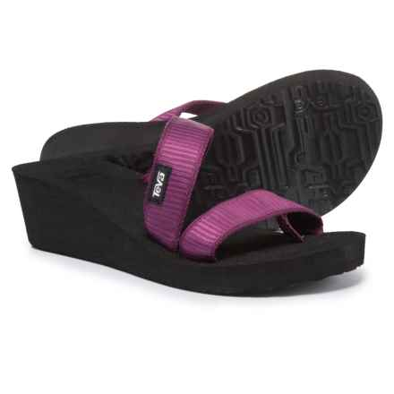 Teva Mush® Mandalyn Wedge Loma Sandals (For Women) in Livy Dark Purple - Closeouts