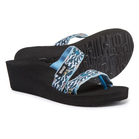 Teva Mush® Mandalyn Wedge Loma Sandals (For Women) in Lucia Multi Blue