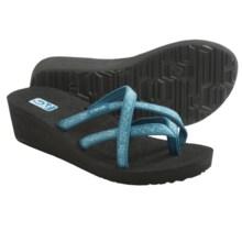 Teva Mush® Mandalyn Wedge Ola 2 Sandals (For Women) in Fleur Blue - Closeouts