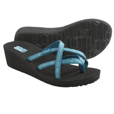Teva Mush® Mandalyn Wedge Ola 2 Sandals (For Women) in Fleur Blue