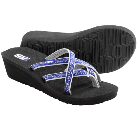 Teva Mush® Mandalyn Wedge Ola 2 Sandals (For Women) in Float Blue