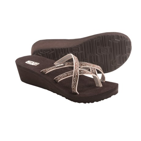 Teva Mush® Mandalyn Wedge Ola 2 Sandals (For Women) in Float Chocolate Brown