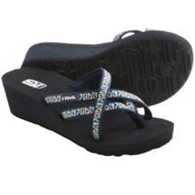 Teva Mush® Mandalyn Wedge Ola 2 Sandals (For Women) in Mosaic Blue - Closeouts