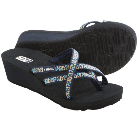 Teva Mush® Mandalyn Wedge Ola 2 Sandals (For Women) in Mosaic Blue