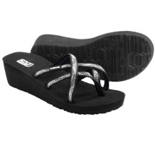 Teva Mush® Mandalyn Wedge Ola 2 Sandals (For Women) in Obscure Black - Closeouts