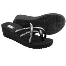 Teva Mush® Mandalyn Wedge Ola 2 Sandals (For Women) in Obscure Black - Closeouts