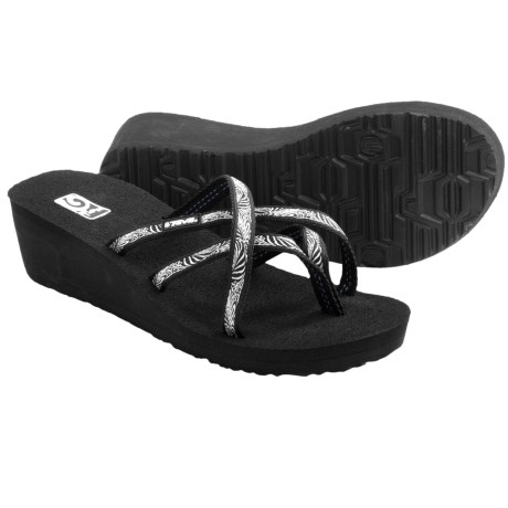 Teva Mush® Mandalyn Wedge Ola 2 Sandals (For Women) in Obscure Black
