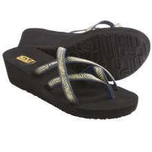 Teva Mush® Mandalyn Wedge Ola 2 Sandals (For Women) in Obscure Grey - Closeouts