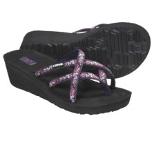 Teva Mush® Mandalyn Wedge Ola 2 Sandals (For Women) in Paisley Fun Purple - Closeouts