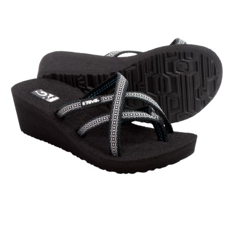 Teva Mush® Mandalyn Wedge Ola 2 Sandals (For Women) in Rumi Black