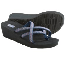 Teva Mush® Mandalyn Wedge Ola 2 Sandals (For Women) in Rumi Blue - Closeouts