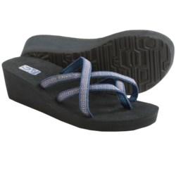 Teva Mush® Mandalyn Wedge Ola 2 Sandals (For Women) in Rumi Blue