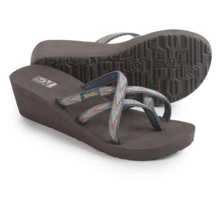 Teva Mush® Mandalyn Wedge Ola 2 Sandals (For Women) in Softground Sea Fog - Closeouts