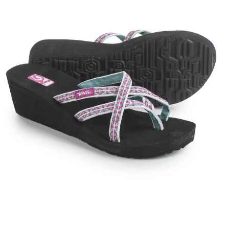 Teva Mush® Mandalyn Wedge Ola 2 Sandals (For Women) in Wonders Magenta - Closeouts